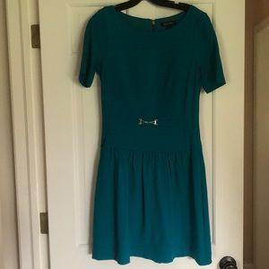 White House Black Market teal dress size 6
